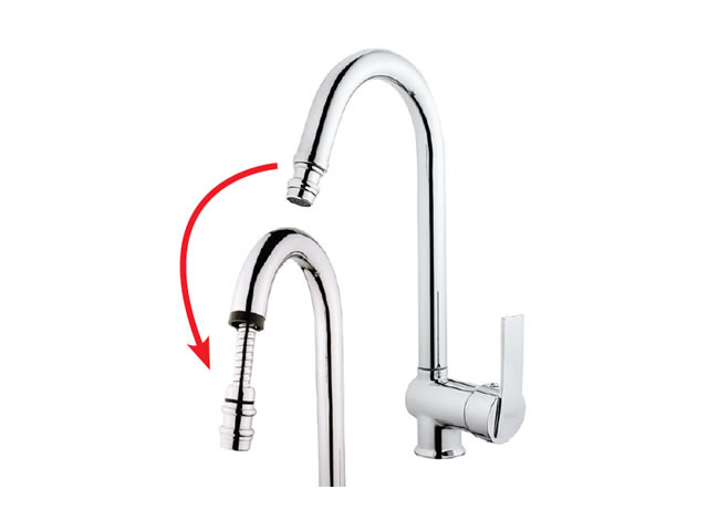 Sink Mixer With Pull-Out Spiral Spring Tap